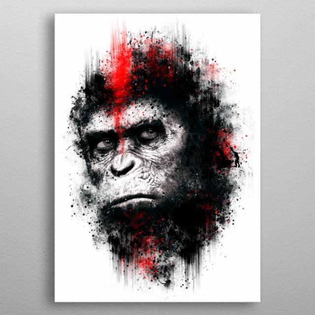 Ape metal poster