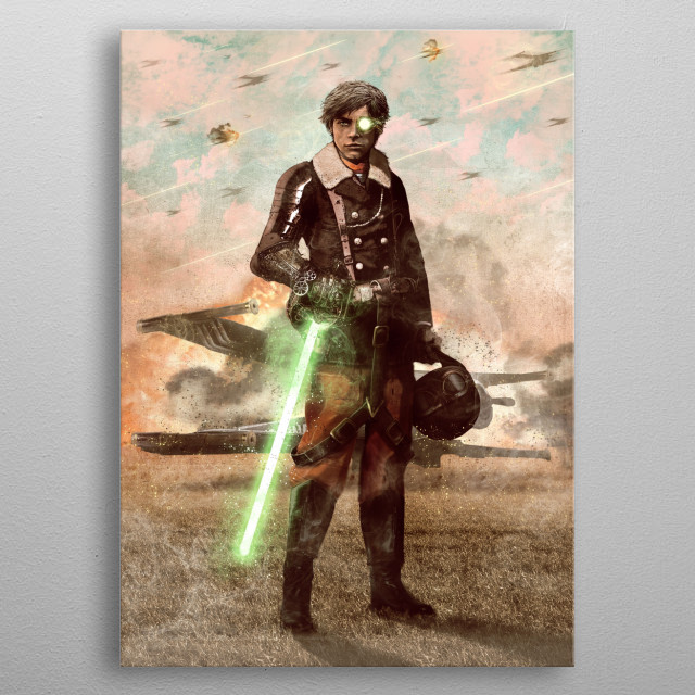 Steamforce Pilot metal poster