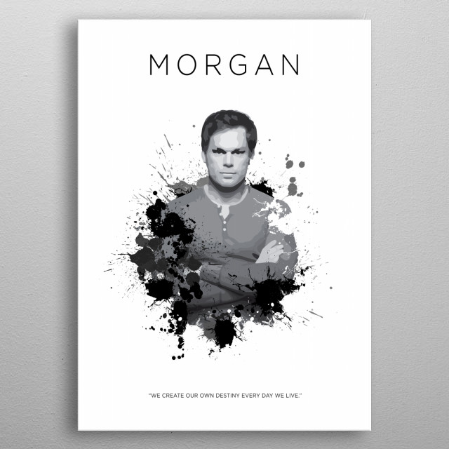 Dexter Morgan metal poster