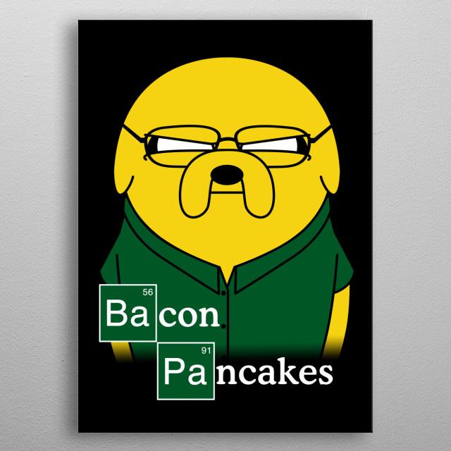 Bacon Pancakes metal poster