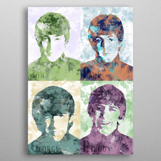 John - Paul - George - Ringo metal poster