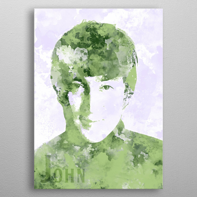 John Lennon metal poster