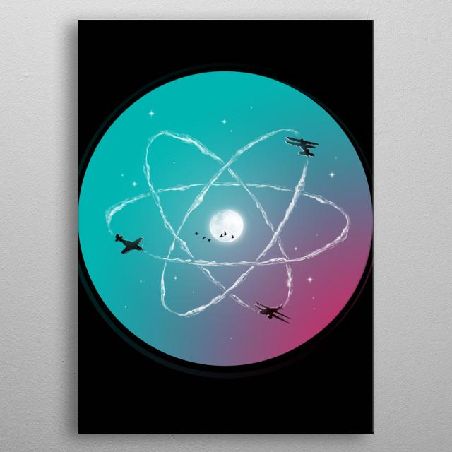Atomic Formation metal poster