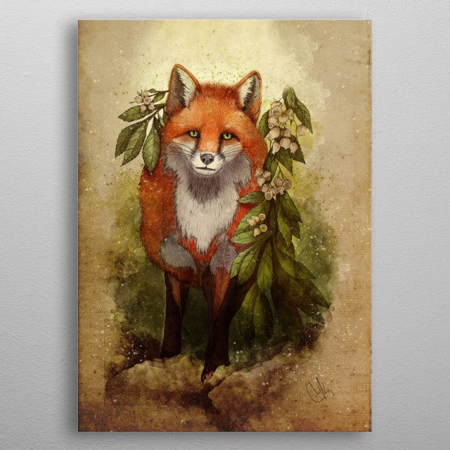 fox [caming ou of the woods] metal poster