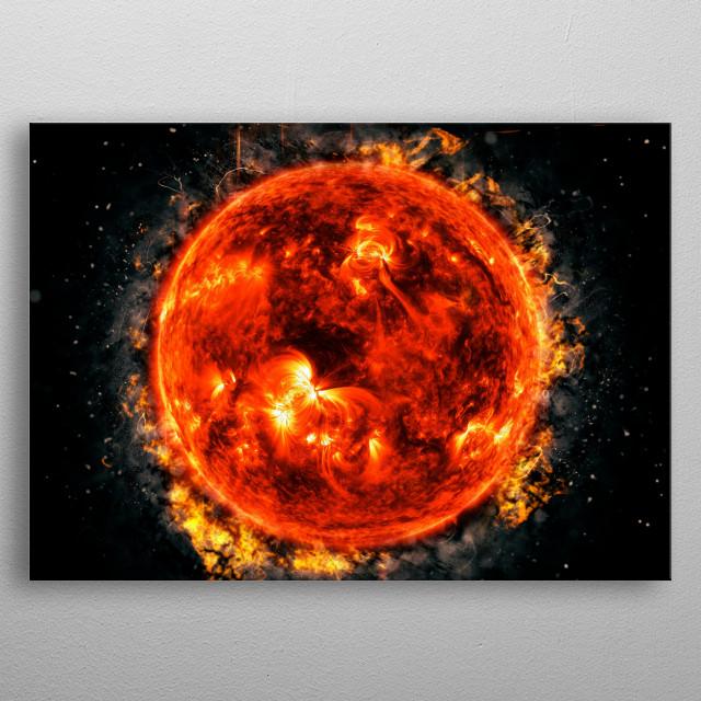 Sun Under Fire metal poster