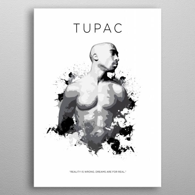 2pac metal poster