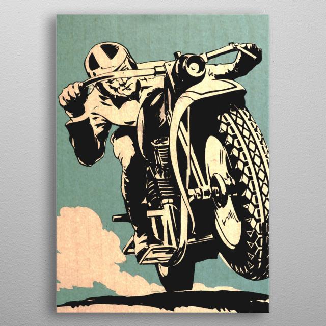 Motorcycle Races metal poster