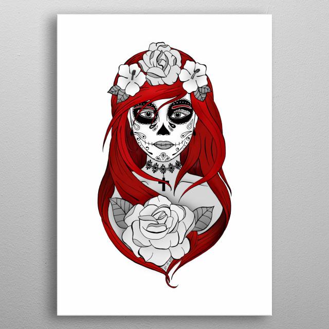 Santa Muerte Red By Art Be Metal Posters Displate