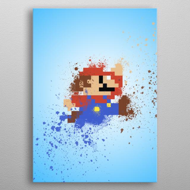 Mario metal poster