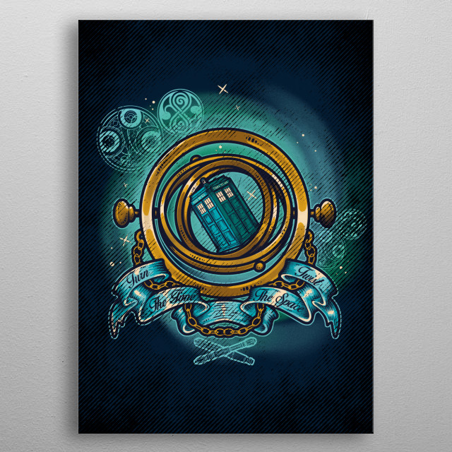 Turn The Time, Twist The Space metal poster