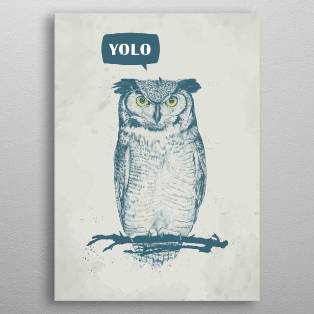 YOLO metal poster