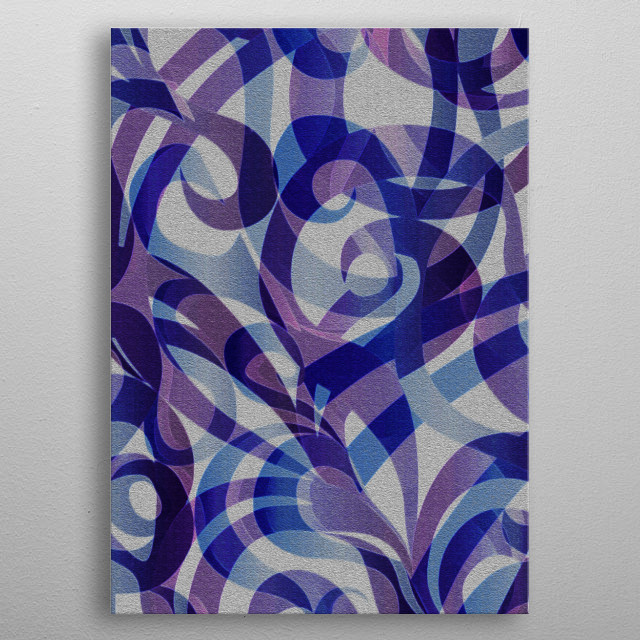 Floral Geometric Abstract G59 metal poster