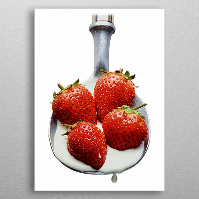 Strawberries and Cream metal poster