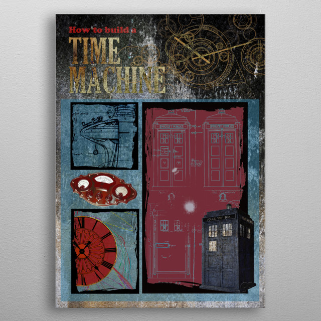 How to Build a Time Machine  inspired by Jay Cheel documentary cover. metal poster