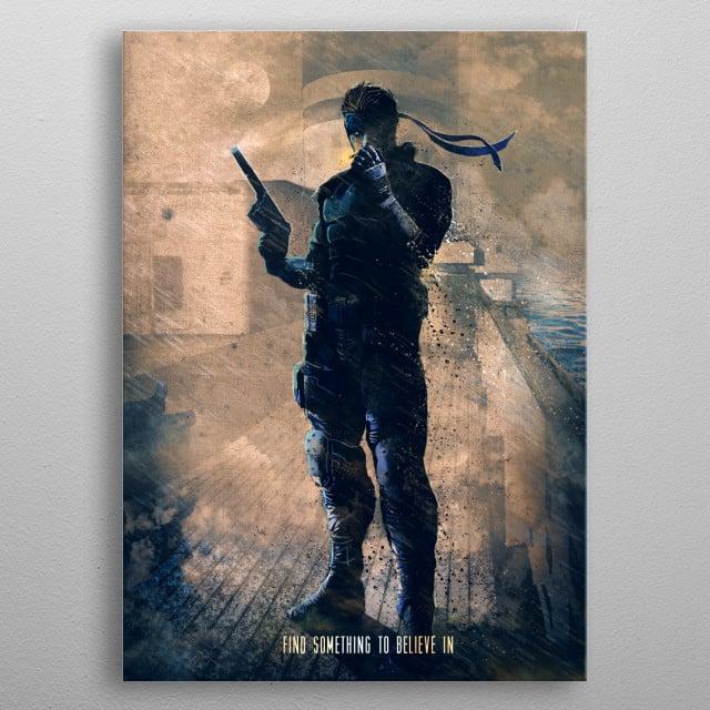Snake metal poster