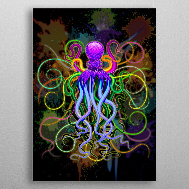 Fascinating metal poster designed by Bluedarkat Lem. Displate has a unique signature and hologram on the back to add authenticity to each design. metal poster