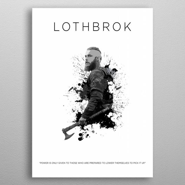 Ragnar Lothbrok metal poster