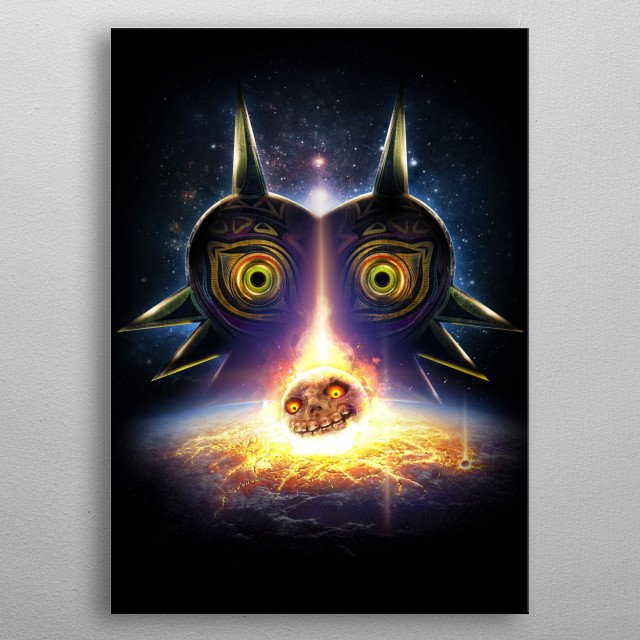 Operation Moonfall - a variation of my earlier inspired Legend of Zelda Majora's Mask design but a what if scenario if Termina actually g... metal poster