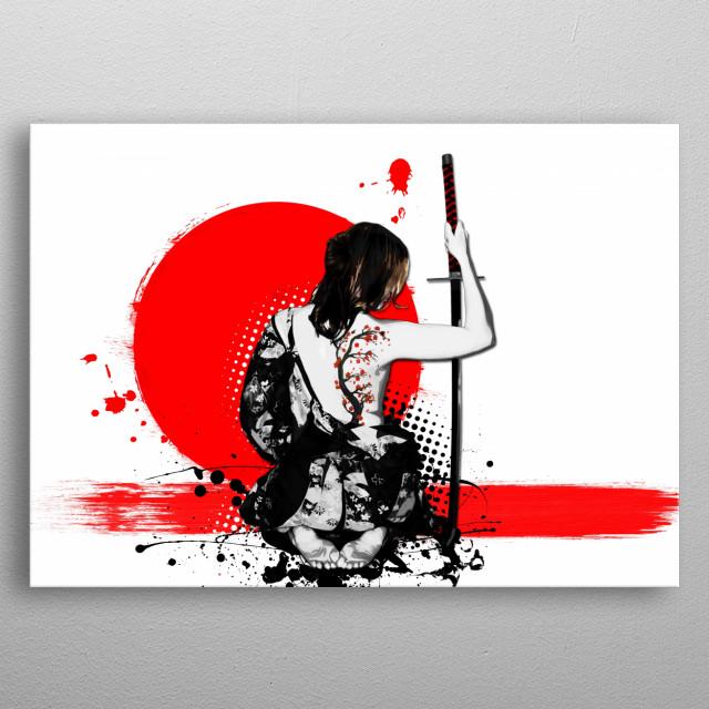 Trash Polka - Female Samurai metal poster