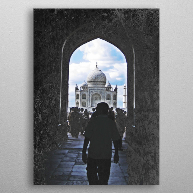 Seeing the Taj metal poster