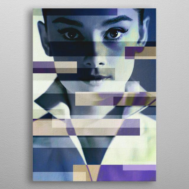 Audrey Hepburn metal poster