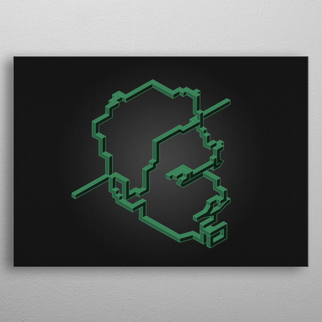 High-quality metal print from amazing Isometric Series collection will bring unique style to your space and will show off your personality. metal poster