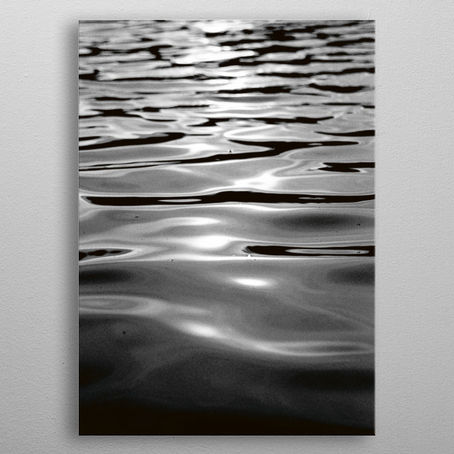 WATER ONE metal poster