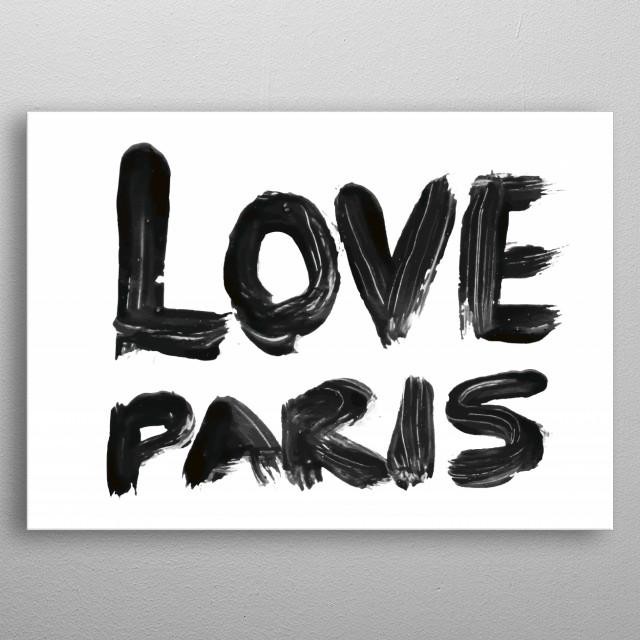 LOVE PARIS metal poster