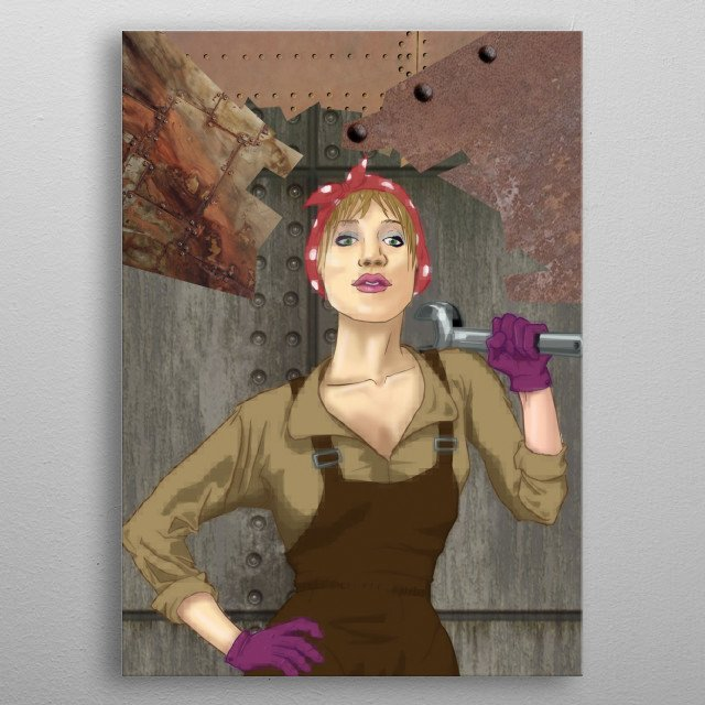 Wow She S A Mechanic Qui Landscapes Poster Print