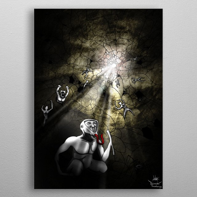 High-quality metal print from amazing Prototype World collection will bring unique style to your space and will show off your personality. metal poster