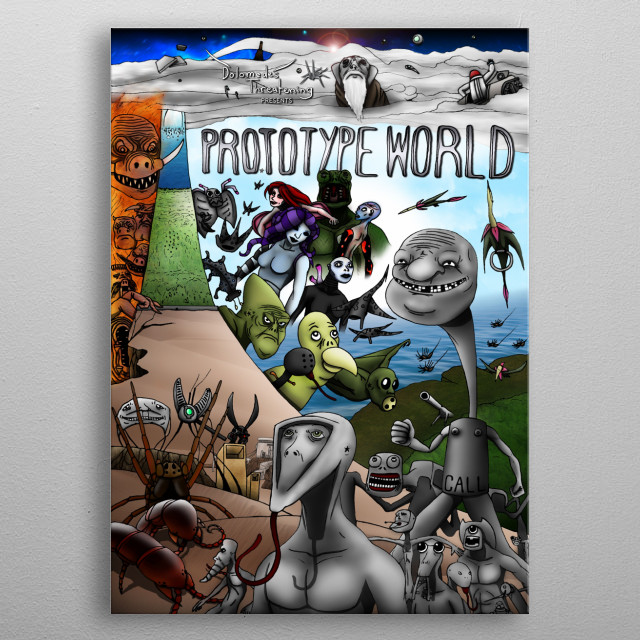 Fascinating metal poster designed by Dolomedes Threatening. Displate has a unique signature and hologram on the back to add authenticity to each design. metal poster