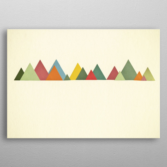 Abstract landscape collage by Cassia Beck. metal poster