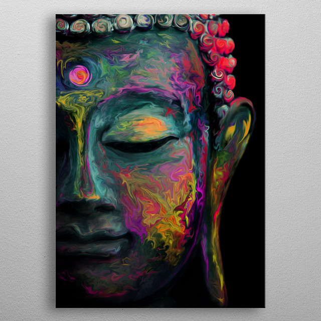 Inner Flame ---The mind is everything. What you think you become. Buddha--- metal poster