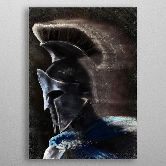 Greek Warrior metal poster