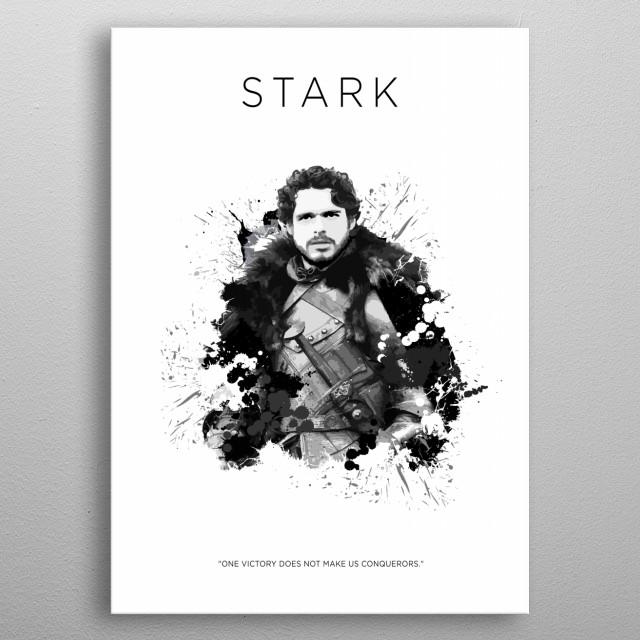 Robb Stark metal poster
