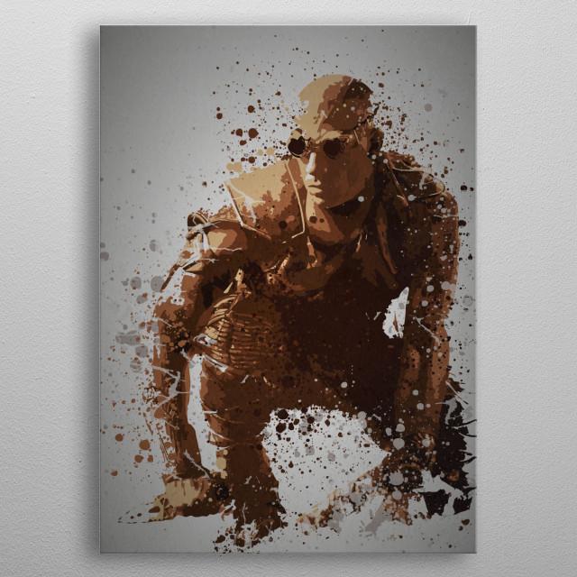 """Pitch black"" Splatter effect artwork inspired by Riddick metal poster"