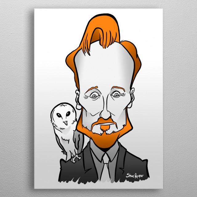 Conan with a Barn Owl metal poster