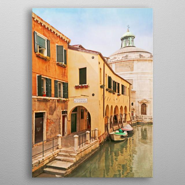 A Venetian View - Sotoportego de le Colonete -  Italy metal poster