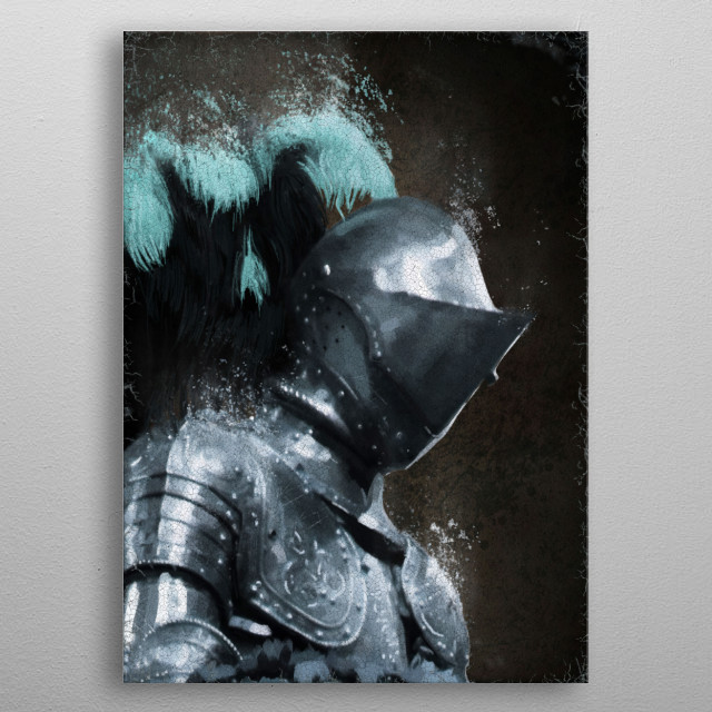Medieval Knight metal poster