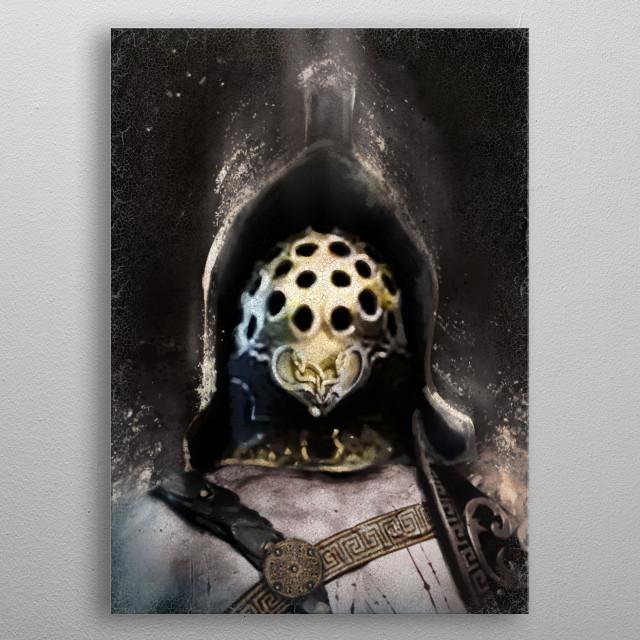 Warrior Gladiator metal poster