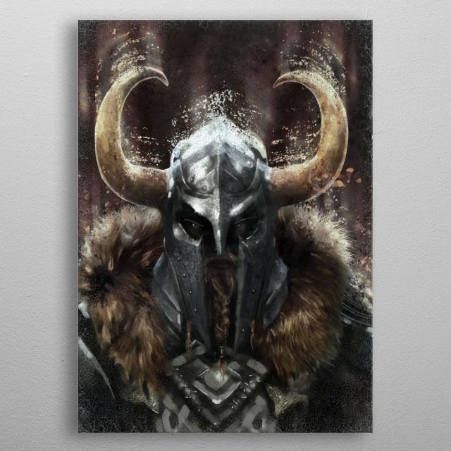 Viking Warrior metal poster