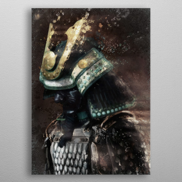 Samurai Warrior metal poster