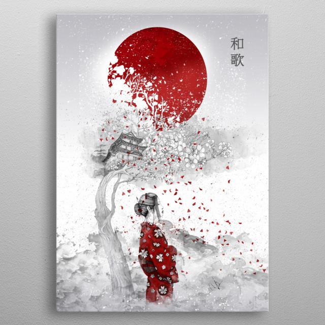Japanese Poem metal poster