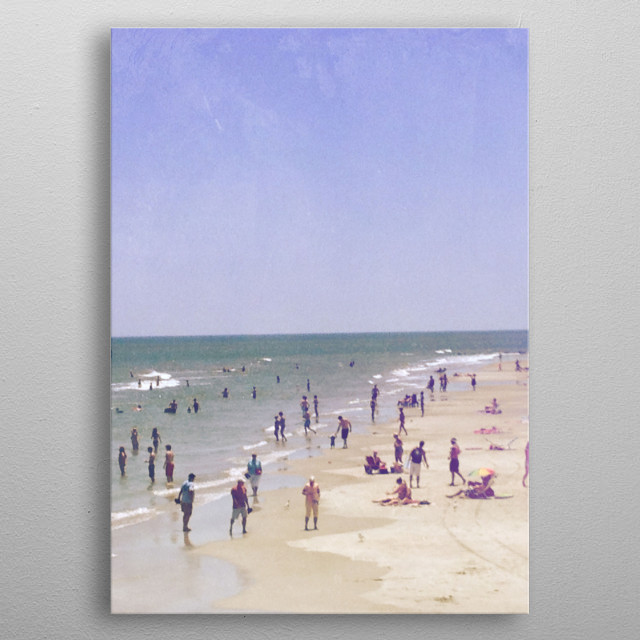 Beach Goers metal poster