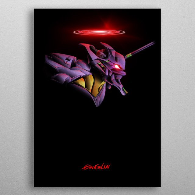 Inspired by the hit anime/manga series Evangelion, my vector artwork of Unit 01. metal poster
