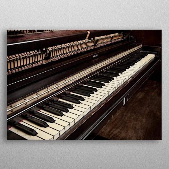 Piano metal poster