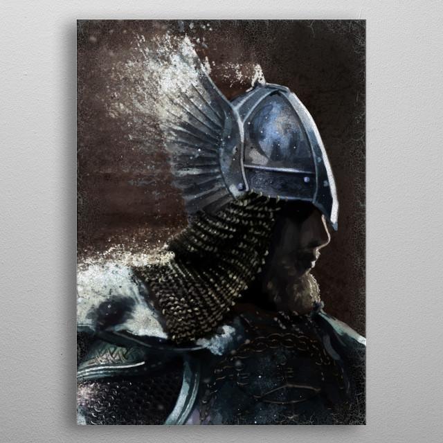 Nordic Warrior metal poster