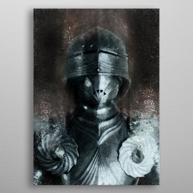 German Gothic Knight metal poster