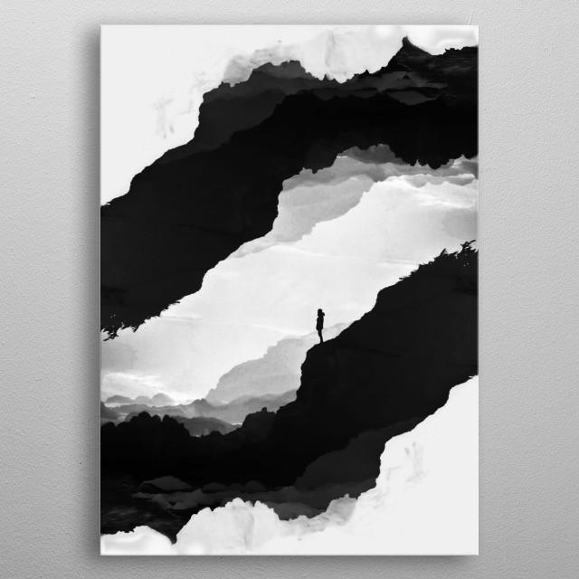 White Isolation metal poster