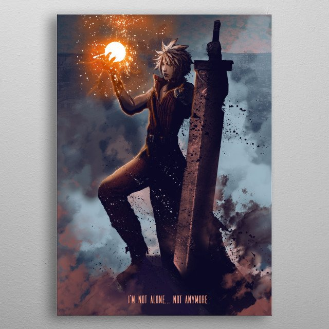 Cloud metal poster